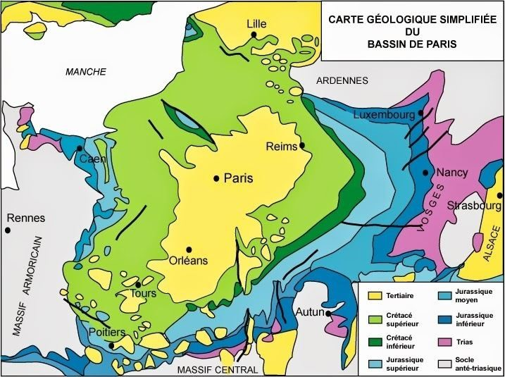 Paris Basin geology