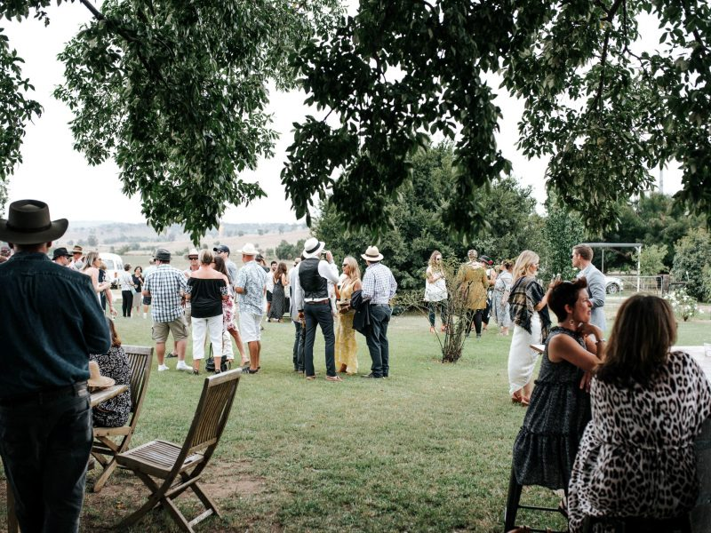 Easter on the cellar door lawns at De Beaurepaire Wines