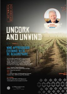 De Beaurepaire Wines Wine Dinner at Palm Cove Sea Temple